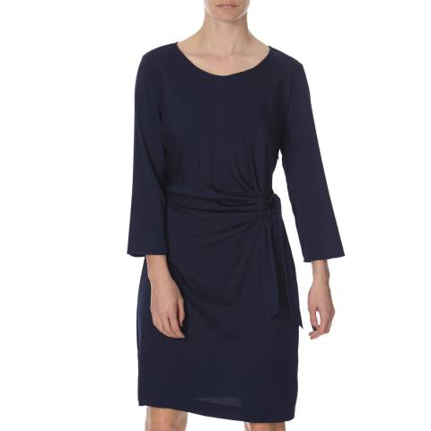 Diane von Furstenberg Navy Silk Zoe Dress
