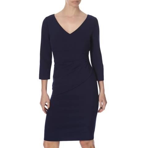 Diane von Furstenberg Navy Bevin Three Dress