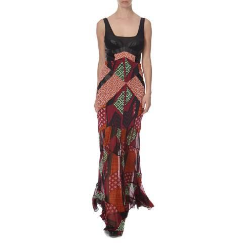 Diane von Furstenberg Multi Print Silk Serena Dress