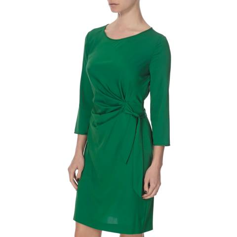 Diane von Furstenberg Green Silk Zoe Dress