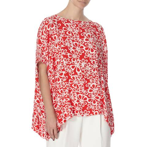 Diane von Furstenberg Red New Hanky Top