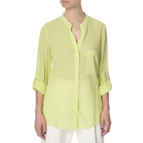 Diane von Furstenberg Lime Green Cotton Top