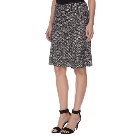 Diane von Furstenberg Black/White Silk Isabella Skirt