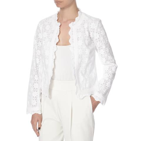 Diane von Furstenberg White Cotton Katie Summer Jacket