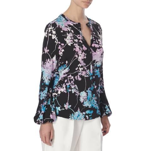 Diane von Furstenberg Multi Print Silk Neda Top