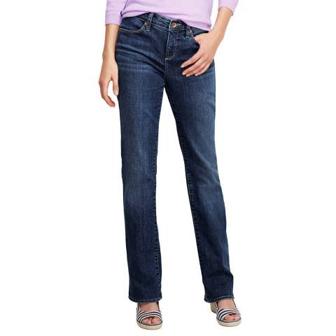 Lands End Indigo Mid-Rise Denim Jeans