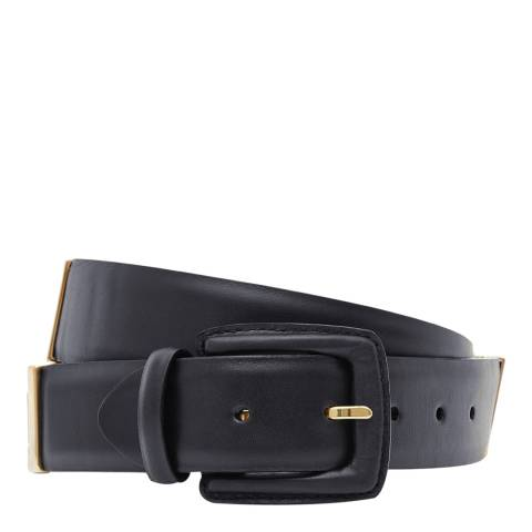 Reiss Black Joni Leather Belt