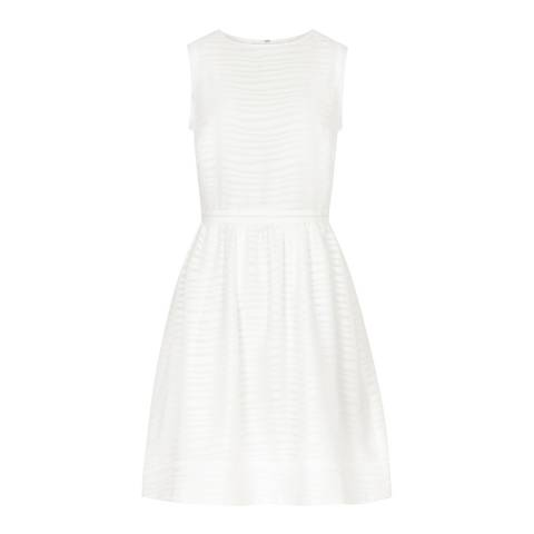 Reiss White Elson Sleeveless Dress