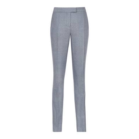 Reiss Soft Blue Wool Slim Leg Tailored Salt Trousers