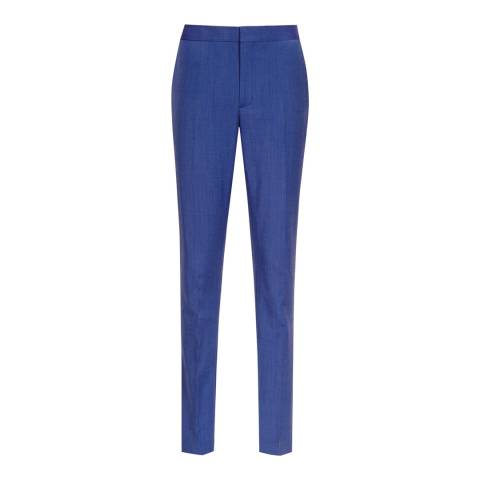 Reiss True Blue Wool Blend Tailored Arlo Trousers