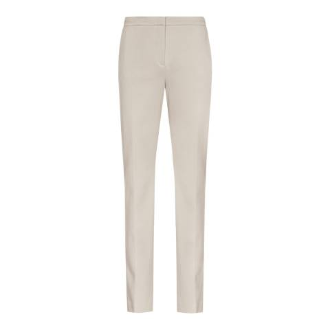 Reiss Stone Grey Portman Straight Leg Trousers