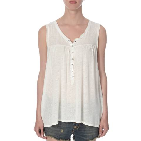 Free People White Hudson Sleeveless Tank