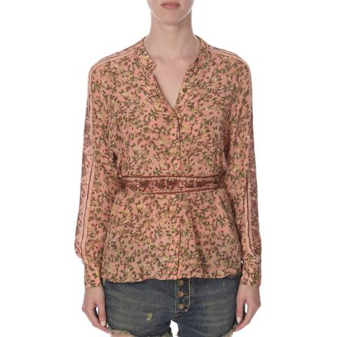 Free People Multi Coloured Floral Skyway Drive In Top