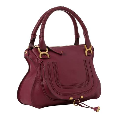 Chloe Purple Leather Marcie Handbag