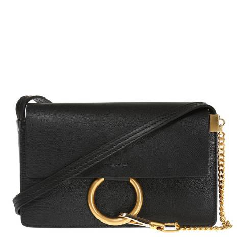Chloe Black Leather Faye Cross Body Bag