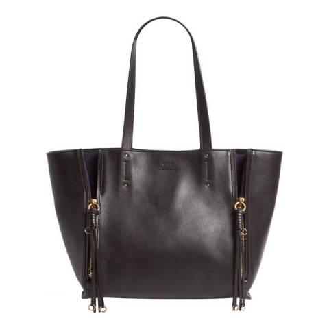 Chloe Black Leather Large Milo Tote Bag
