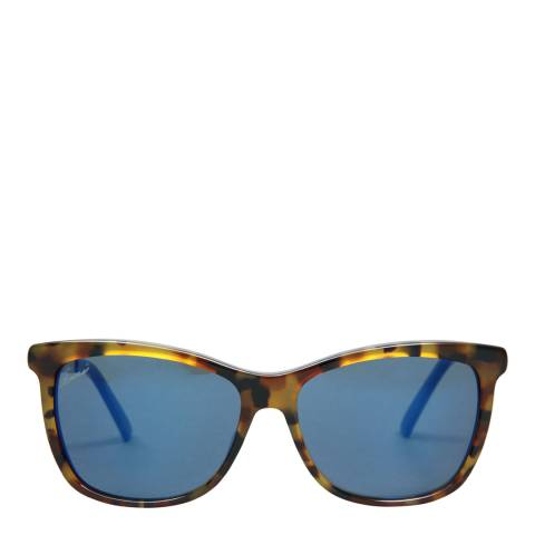 Gucci Women's Light Brown/Blue Sunglasses 56mm