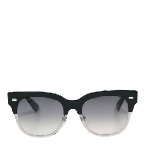 Gucci Women's Black/Transparent Grey Sunglasses 52mm