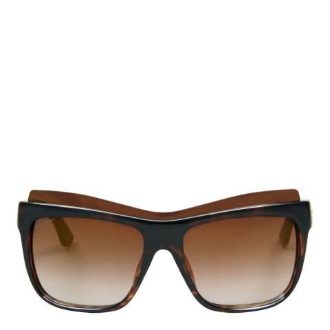 Gucci Women's Dark Havana Sunglasses 57mm