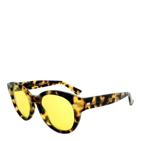 Gucci Women's Tortoise/Yellow Sunglasses 50mm