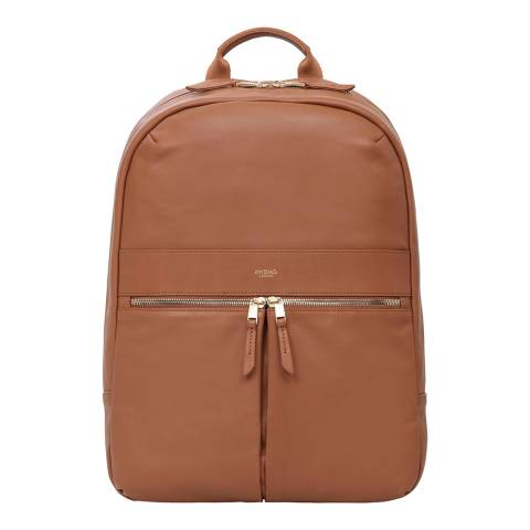 Knomo Tan Beaux Leather 14'' Backpack