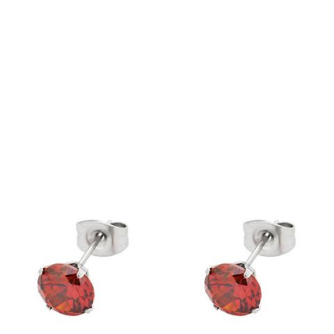 Alexa by Liv Oliver Red Crystal Stud Earrings