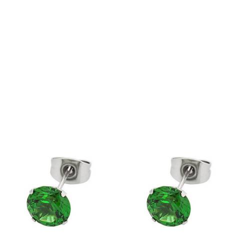 Alexa by Liv Oliver Green Crystal Stud Earrings