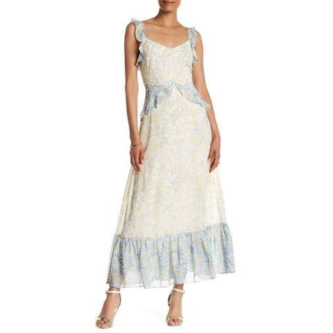 Marchesa Rose Skyway/Vanilla Ice Sleeveless Long Dress