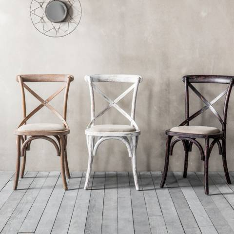Gallery Set of 2 Cafe Chair, White