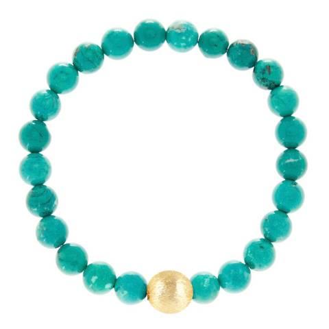 Liv Oliver Gold/Turquoise Bracelet