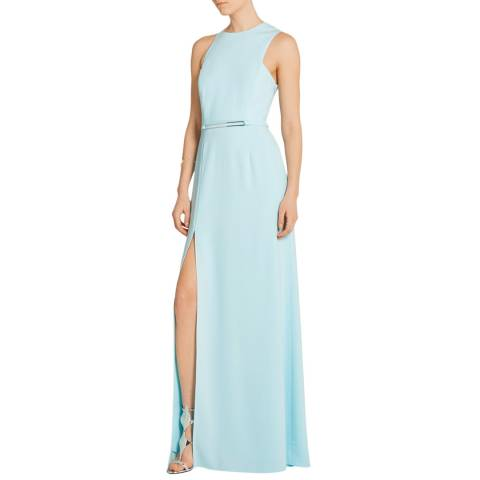 Halston Heritage Foam Back Drape Sleeveless Column Gown
