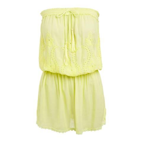 Melissa Odabash Yellow Fruley Bandeau Short Dress
