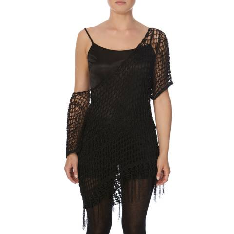 Bolongaro Trevor Black Crochet Top