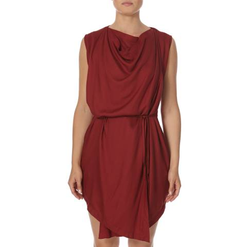 Bolongaro Trevor Red Drape Wrap Dress