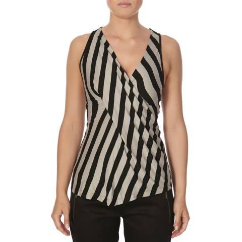 Bolongaro Trevor Grey/Black Drape Vest Top