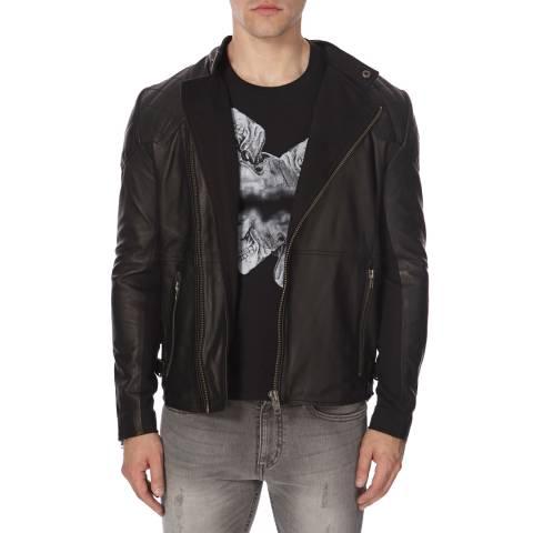Bolongaro Trevor Black Leather Badger Biker Jacket