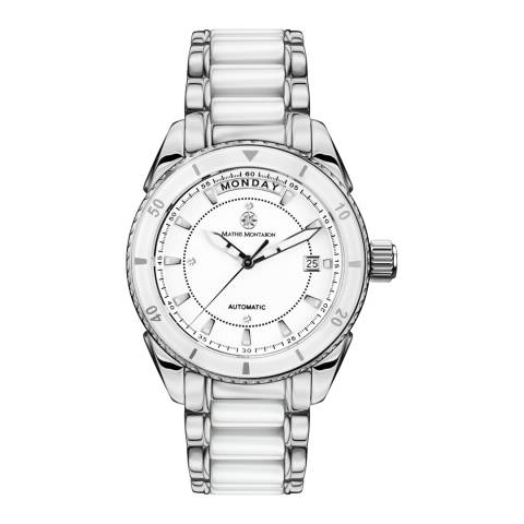 Mathis Montabon Women's La Magnifique White and Silver Ceramic Watch