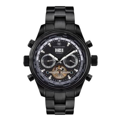 Mathis Montabon Men's Globe Trotter Black Stainless Steel Watch