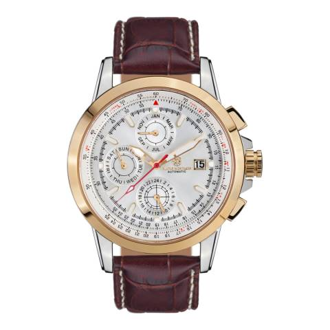 Mathis Montabon Men's Aerotime Brown and Gold Leather Watch