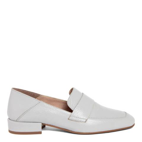 Gusto Grey Leather Penny Loafers