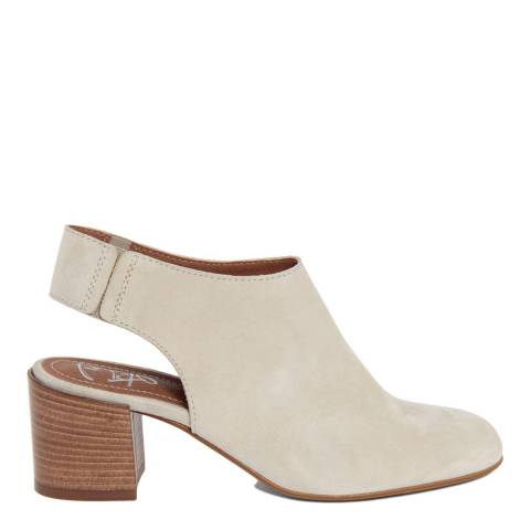 Gusto Beige Suede Backless Ankle Boots