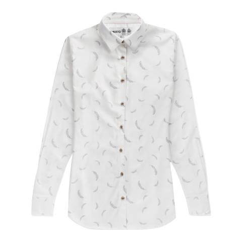 Musto Women's White Country Printed shirt