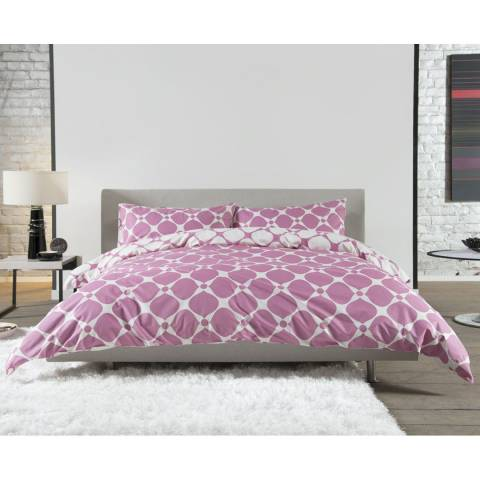 Deyongs Pink Superking Geo Duvet Set
