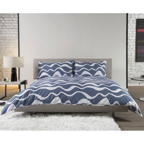 Deyongs Squiggle Single Duvet Cover Set, Blue