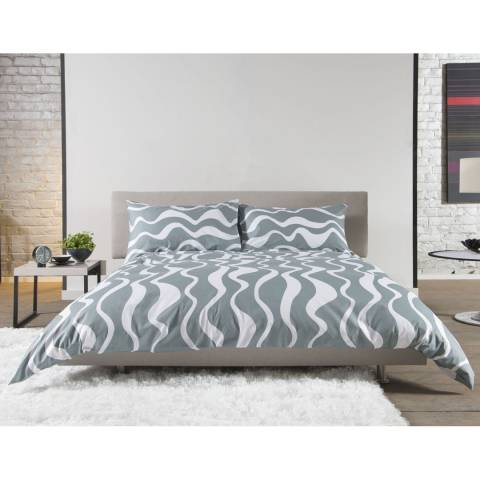 Deyongs Green Kingsize Squiggle Duvet Set