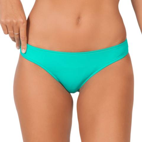 Seafolly Turquoise/ Green Bow Back Brazilian Bikini Briefs