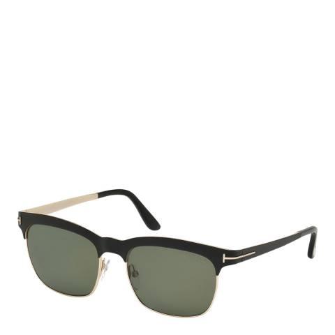 Tom Ford Women's Black / Green Polarized Sunglasses 54mm