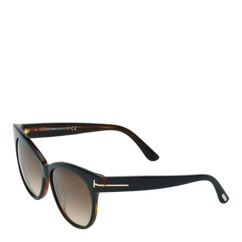 Tom Ford Women's Black/Dark Brown Saskia Sunglasses 57mm