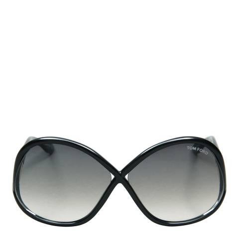 Tom Ford Women's Polished Black / Graduated Smoke Sunglasses 64mm