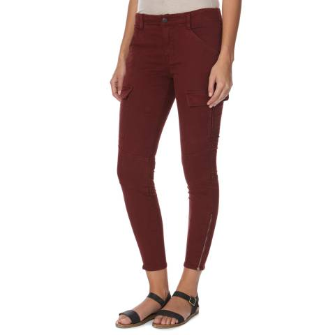 J Brand Red Houlihan Mid Rise Cotton Blend Cargo Trousers
